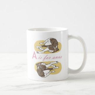 Un alfabeto de los niños taza de café
