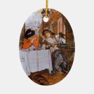 Un alumerzo (Dejeuner menudo) por James Tissot Adorno Navideño Ovalado De Cerámica