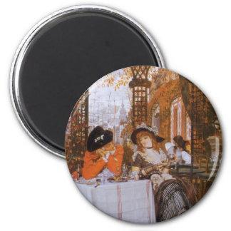 Un alumerzo (Dejeuner menudo) por James Tissot Imán Redondo 5 Cm