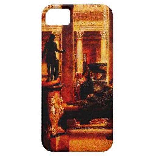 Un amante del arte romano (1870) por sir Lorenzo A iPhone 5 Case-Mate Cárcasa