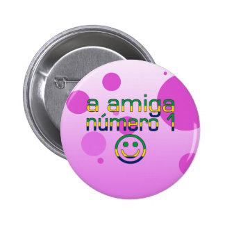 Un Amiga Número 1 en bandera brasileña colorea a 4 Pins