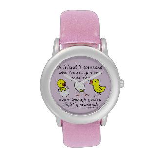 Un amigo es alguien el decir divertido de BFF Relojes De Mano