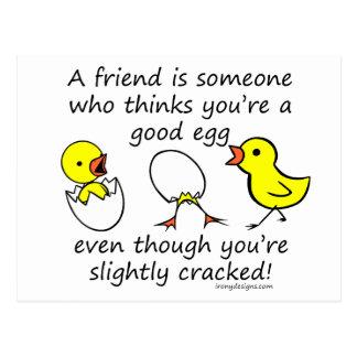 Un amigo es alguien postal