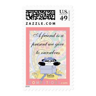 Un amigo es un presente que damos a nosotros sellos