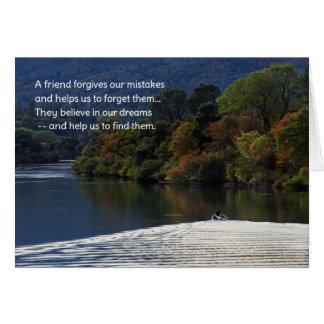 Un amigo perdona nuestros errores… tarjeta de felicitación