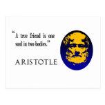 Un amigo verdadero de Aristóteles. Postal