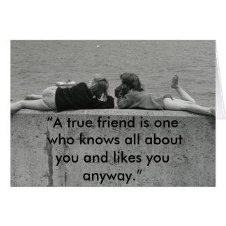 Un amigo verdadero tarjetón