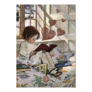 """Un amor de la lectura invitación 5"""" x 7"""""""