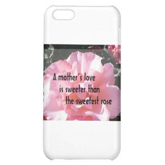 Un amor de madre - emblema color de rosa para la m