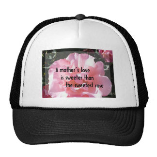 Un amor de madre - emblema color de rosa para la m gorro de camionero