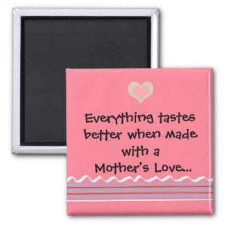 Un amor de madre imán cuadrado
