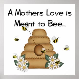 Un amor de madre se significa a la impresión de la póster