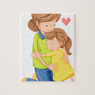 Un amor de una madre y de una hija rompecabezas con fotos
