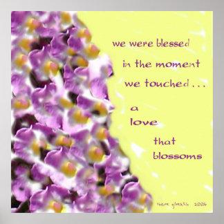 Un amor ese poster del Haiku de los flores