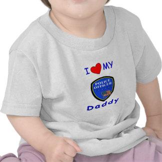 Un amor mi papá de la policía camiseta