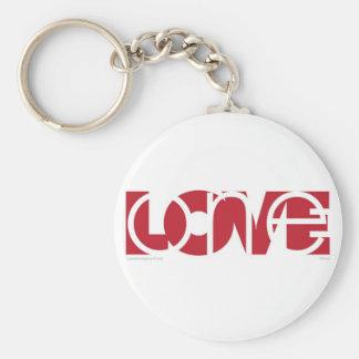 Un amor (r) llavero redondo tipo pin