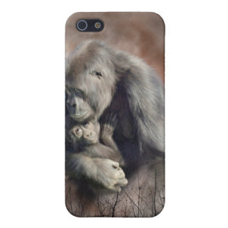 Un amor tan magnífico - caso del arte del gorila p iPhone 5 protectores