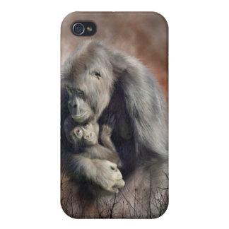 Un amor tan magnífico - caso del arte del gorila p iPhone 4 protector