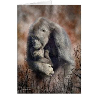 Un amor tan magnífico - gorila ArtCard Tarjetón