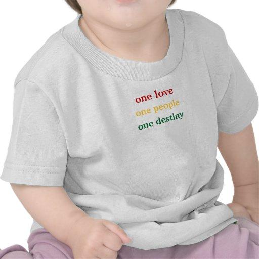 un amor, una personas, un destino camisetas