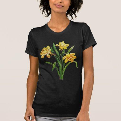 Un anfitrión de oro de narcisos bordados tee shirts