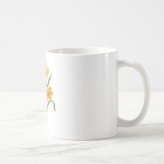 Un anfitrión de oro de narcisos bordados taza clásica