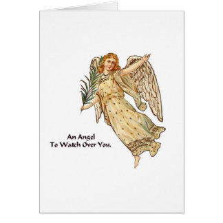 Un ángel a vigilar usted tarjeta pequeña
