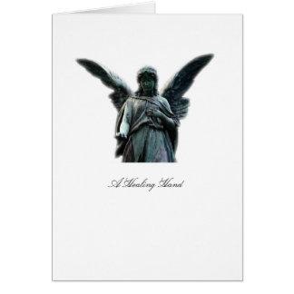 Un ángel curativo de la mano - tarjeta de felicita