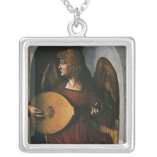 Un ángel en rojo con un laúd de Leonardo da Vinci Joyeria