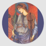 Un ángel musical etiquetas redondas