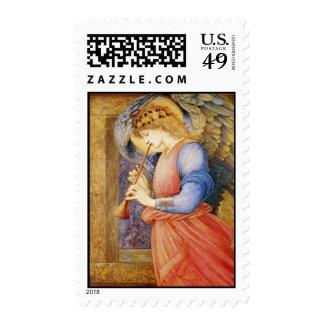 Un ángel que juega una chirimia sellos