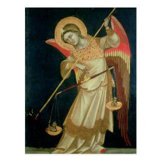 Un ángel que pesa un alma, c.1348-55 tarjetas postales