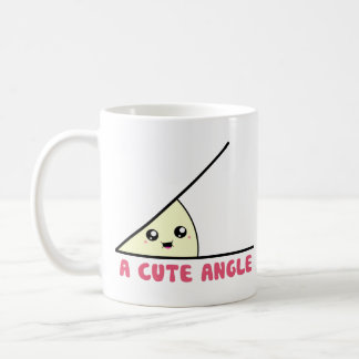 Un ángulo agudo lindo taza básica blanca