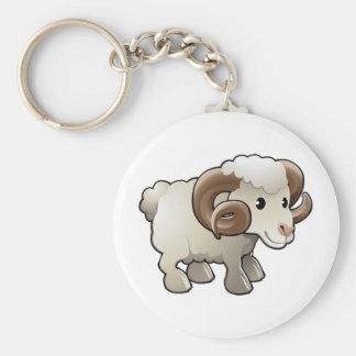 Un animal del campo lindo de las ovejas del espoló llaveros