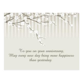 Un aniversario feliz postal