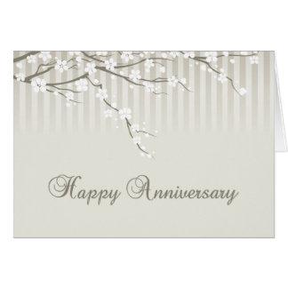 Un aniversario feliz tarjeta de felicitación