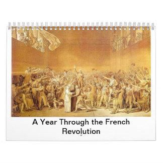 Un año a través de la Revolución Francesa Calendario