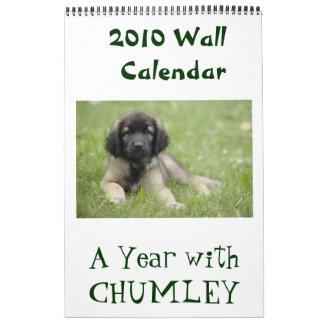 Un año con el calendario de pared de Chumley 2010