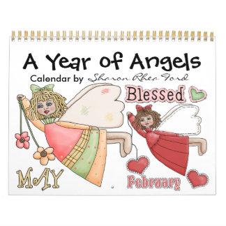 Un año de ángeles calendario