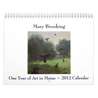 Un año de arte en Maine Calendario
