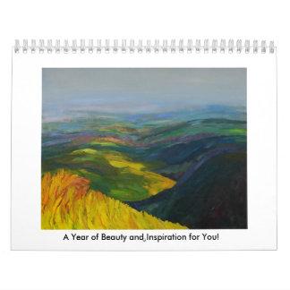 Un año de belleza y de inspiración para usted calendario de pared
