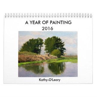 Un año de calendario    de la pintura 2016