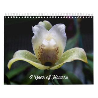 Un año de calendario de las flores