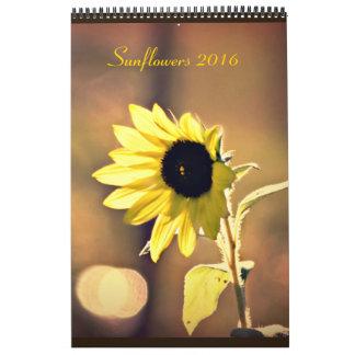Un año de calendario de los girasoles 2016