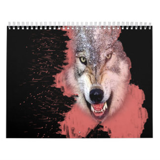 un año de chapoteo animal calendario de pared
