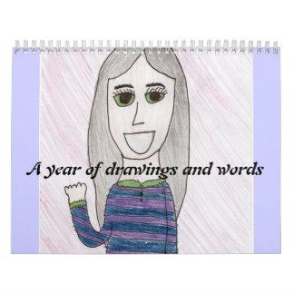 un año de drawigns y de palabras calendarios