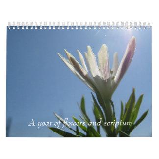 Un año de flores y de escritura calendarios
