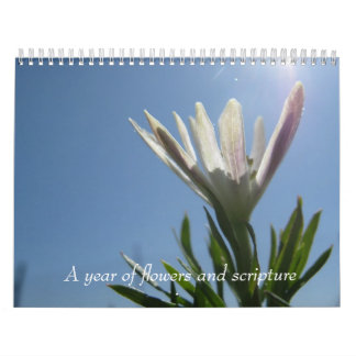 Un año de flores y de escritura calendarios de pared