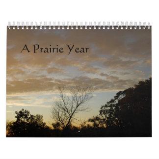 Un año de la pradera calendario