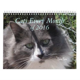 Un año de los gatos 2016 - personalizar a calendarios de pared